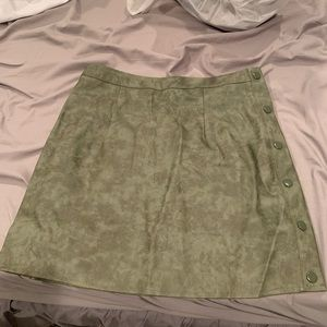 LF faux olive green skirt
